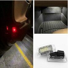 LED blanco Ultra brillante (lente transparente) de alta salida luz Interior, lámpara para puerta de coche, Kit de luz de maletero para coche, para Tesla Model 3 S X(2 uds)