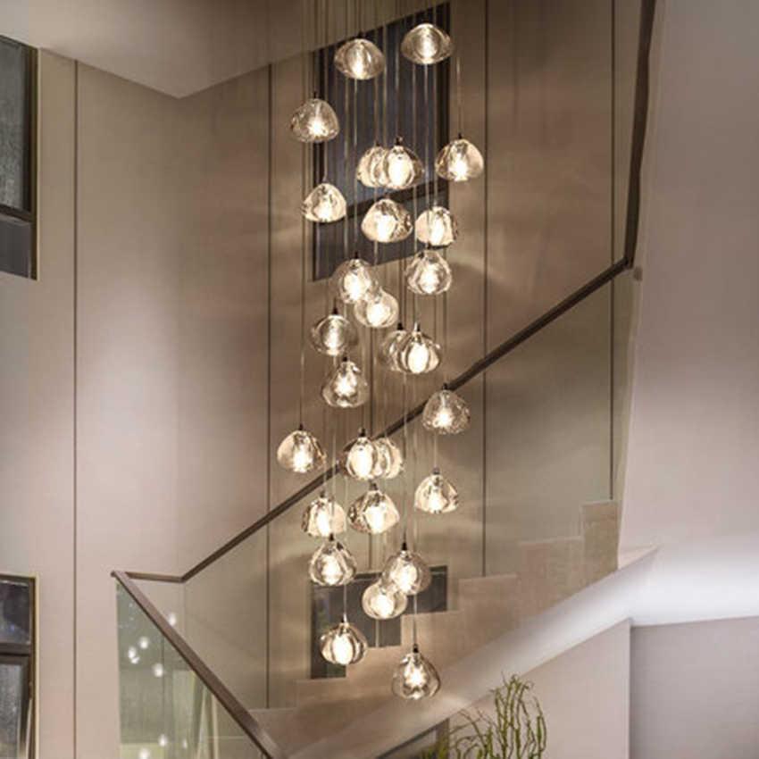 Moderne Led Hanglampen Kristallen Hanger Lamp Samengestelde Hal Trappenhuis Lange Woonkamer Trap Opknoping Lamp Verlichting Luminaria Pendant Lights Aliexpress