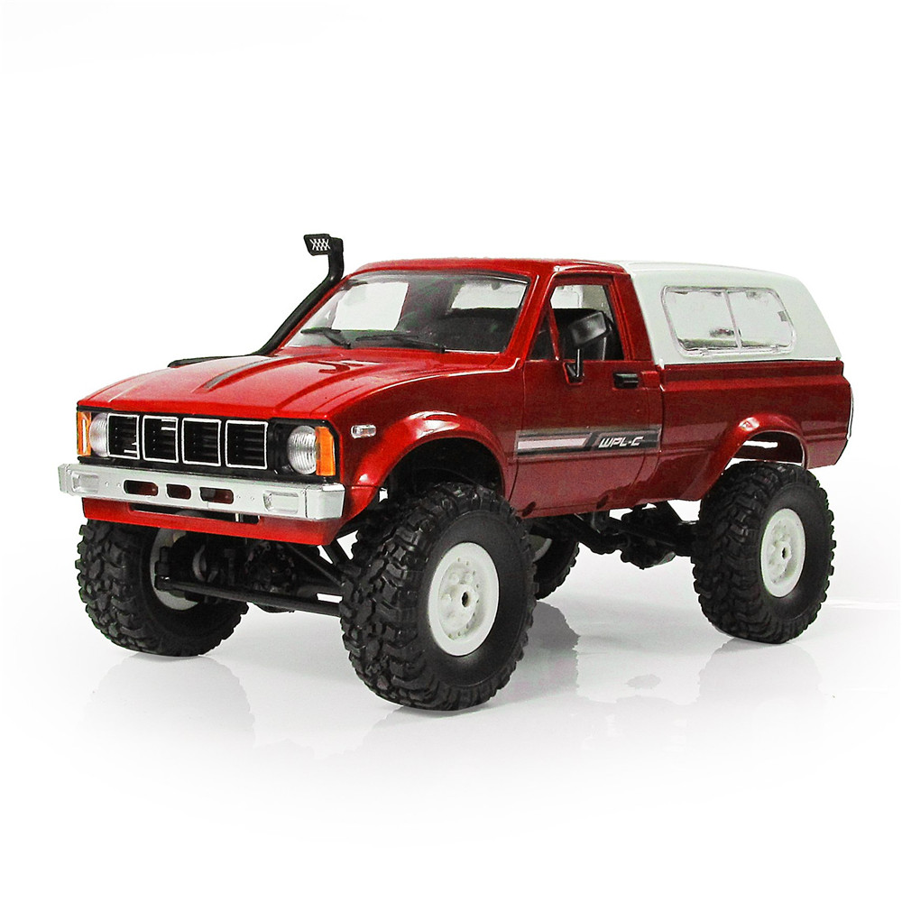 WPL C-24 1/16 4WD 2.4G Military Truck Buggy Crawler Off Road RC Car Ready-to-go 2CH RTR Toy & Transmitter Kids Gifts