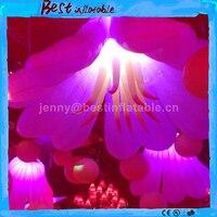 Светодио дный светодиодный надувной цветок, украшение надувной цветок освещение, надувные декорации цветок на День святого Валентина