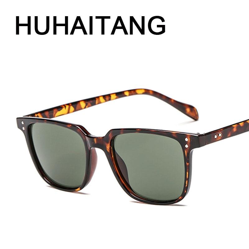 HUHAITANG Luxury Aviation Square Sunglasses Men Brand Designer Sunglass Vintage Sun Glasses For Women High Quality Sunglases