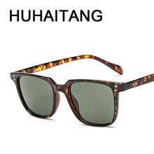 HUHAITANG Luxury Aviation Square Sunglasses Men Brand Design
