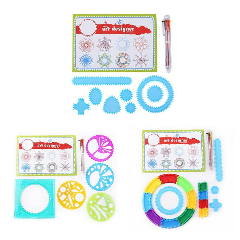 Learning Art Sets For Children Creative Gift Drawing Toys Set Interlocking Gears Creative Learning Educational Kids Toy PNLO
