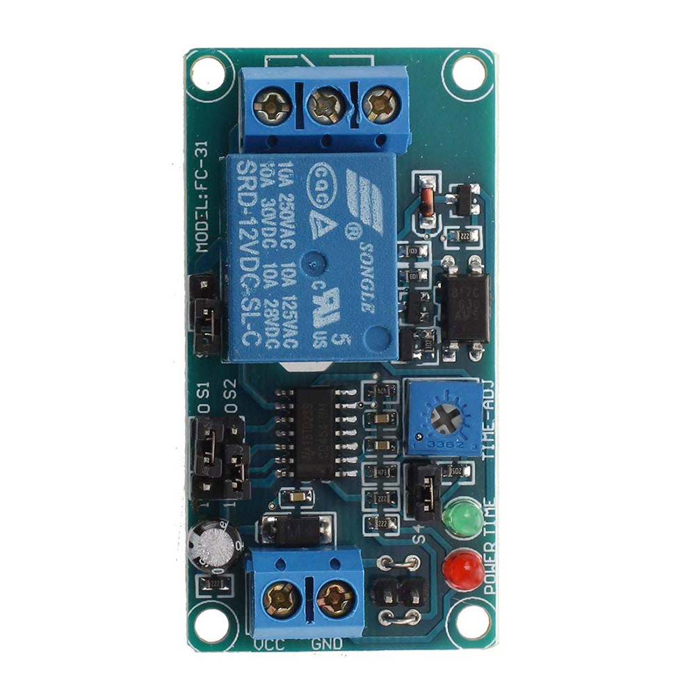 Dc 12v Timer Timing Board Relay Module Time Delay Control