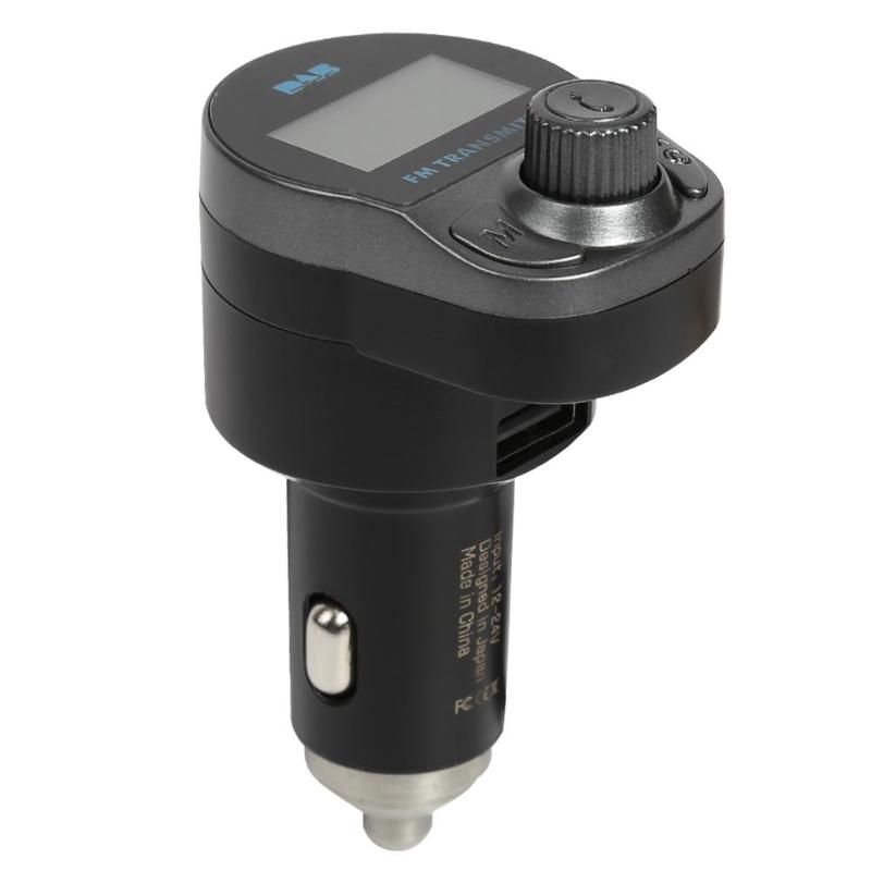 Bluetooth FM transmetteur mains libres voiture Kit DAB/DAB + 12-24 V Radio numérique lecteur MP3 USB chargeur TF carte 128*64 écran matriciel