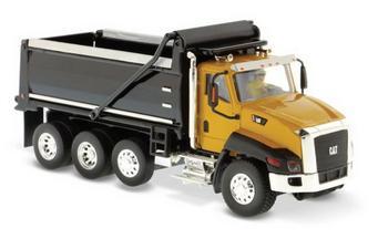 Diecast Masters 1/50 Scale Caterpillar Cat CT660 Dump Truck Yellow and Black Diecast Model #85290