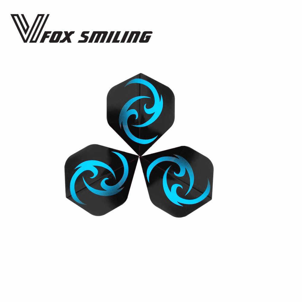 Fox Smiling 6/30pcs Black Blue Dart Flights Nice Darts Wing Tail Dart  Accessories