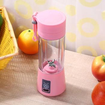 380 мл USB перезаряжаемый портативный миксер, 6 лезвий, соковыжималка для сока, цитрусовых, лимонов, овощей, фруктов, смузи, соковыжималки, Пряма...