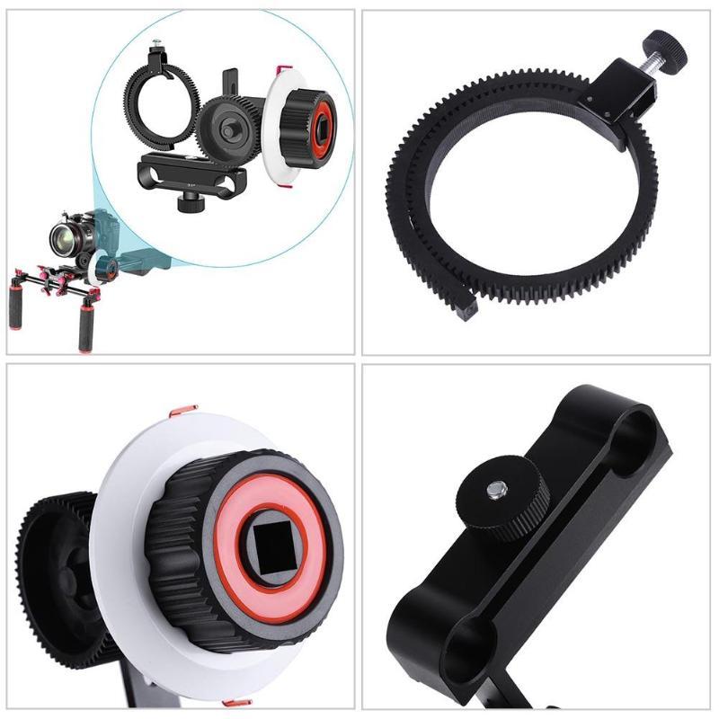 FO VODOOL Camera Follow Focus Com Ajustável Engrenagem Belt Anel Para Canon Nikon Câmeras DSLR da Sony Photography Studio Accessorie