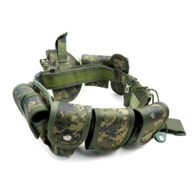 New camouflage Tactical Molle Belt Men's Army Special 1000D Nylon military belt Convenient combat Girdle Adjustable Soft Padded 4