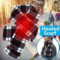 49524165ad Smooth Unisex Heated Thermal Scarf Ski Warmer Heat Neck Cover Battery  Powered Outdoor 150cm Motorcycle Cycling