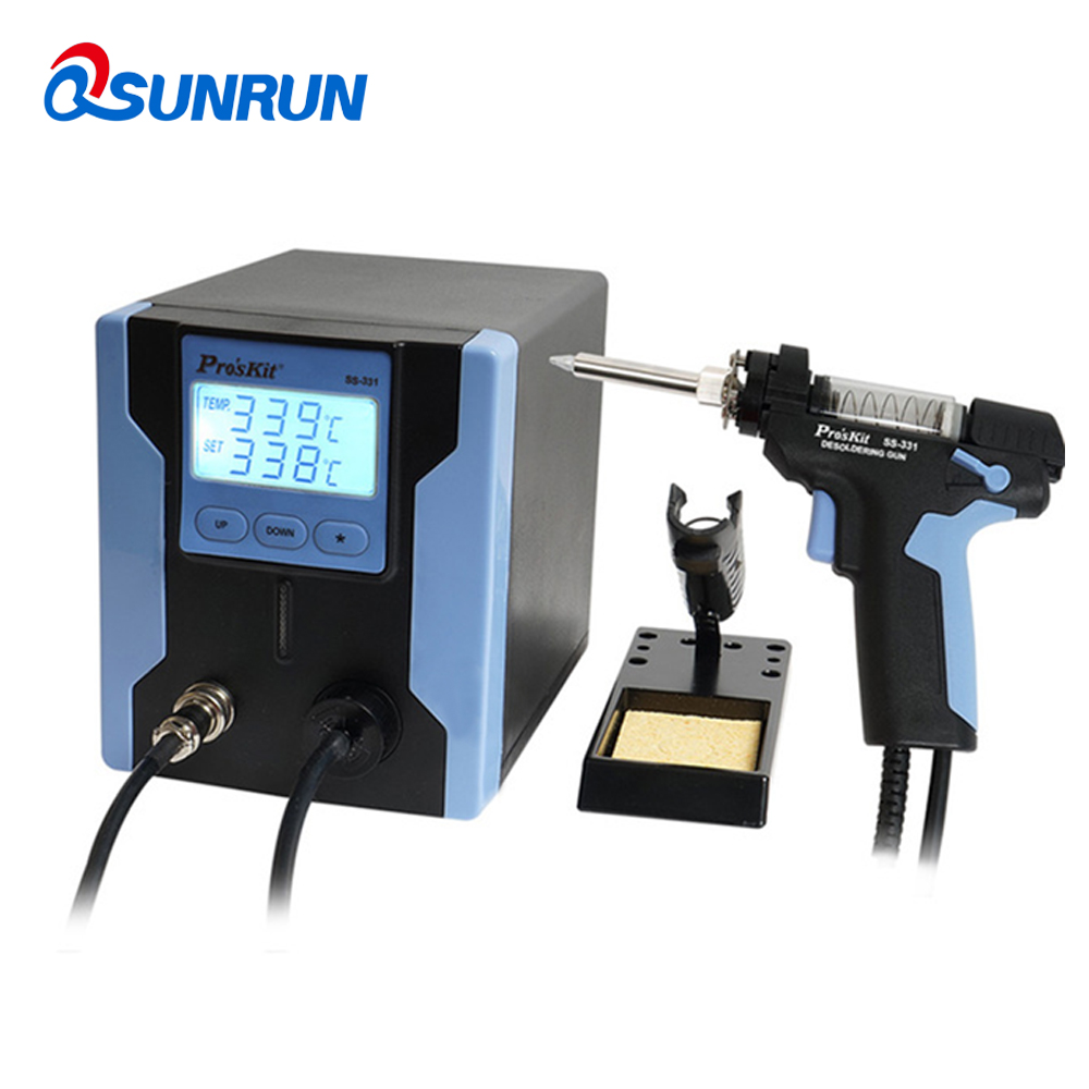 ProsKit SS-331H Electric Desoldering Gun Anti-static High Power Strong Suction Desoldering Pump For PCB Circuit Board RepairProsKit SS-331H Electric Desoldering Gun Anti-static High Power Strong Suction Desoldering Pump For PCB Circuit Board Repair