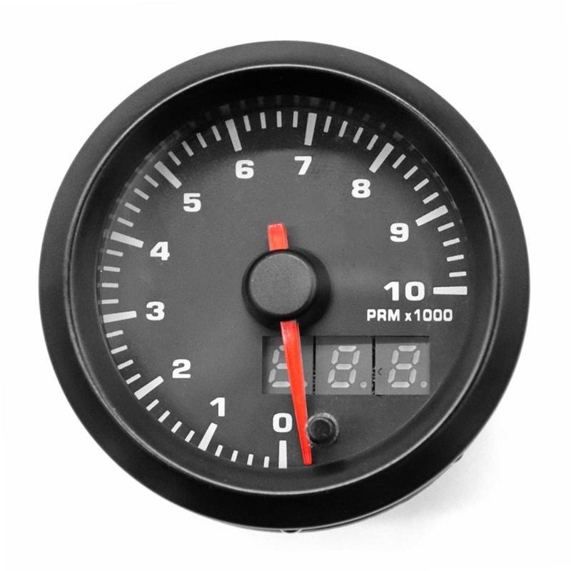 Tachymètre de voiture 52mm 12 V 7 couleurs Blacklight Digital + pointeur RPM jauge de compteur