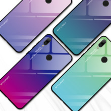Gradient Glass Phone Case for Huawei Honor 10i 20i 8A 8X 9lite P20 P30 lite Y7 Y6 Prime Pro Y9 P Smart Plus 2019 Cool Glass Case(China)