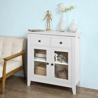 SoBuy домашний кухонный буфет шкаф для хранения с 2 ящиками и 2 дверями мебель для гостиной FSB05-W