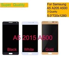 10 pz/lotto Per Samsung Galaxy A5 2015 A500 A500F A500FU A500Y A500FQ Touch Screen Digitizer Vetro Display LCD del Pannello di Montaggio