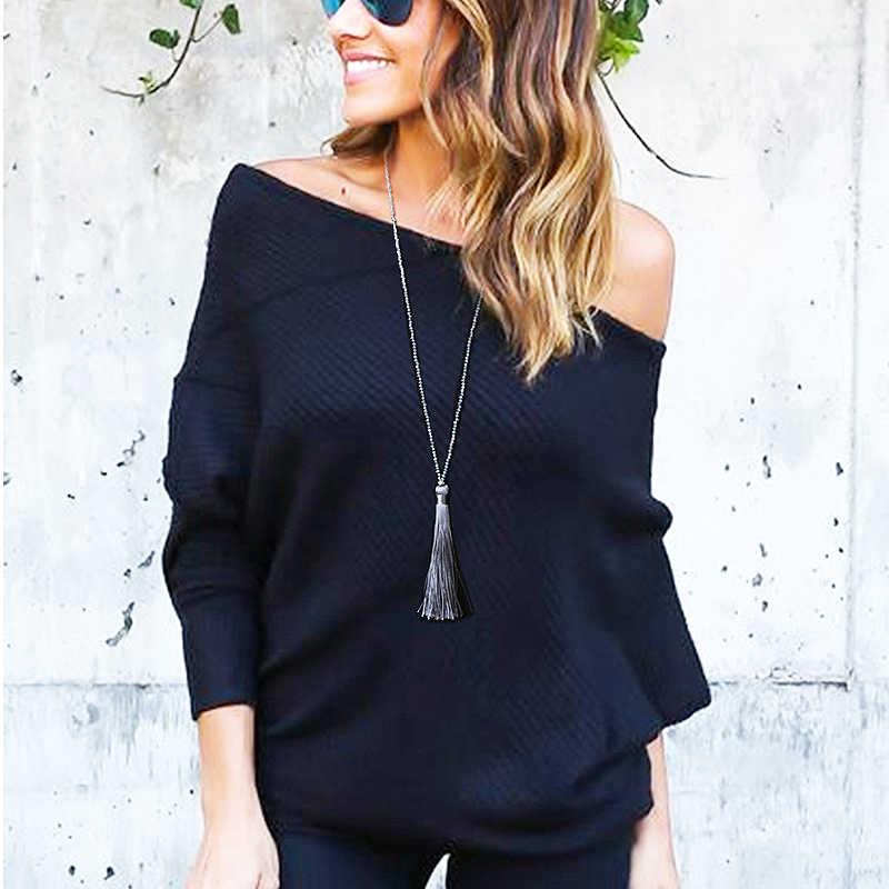 Flecos largos borla cristal falda chicas colgante collar 1 PC único elegante Boho cristal cuentas 10 colores suéter 2018 nuevo llegada