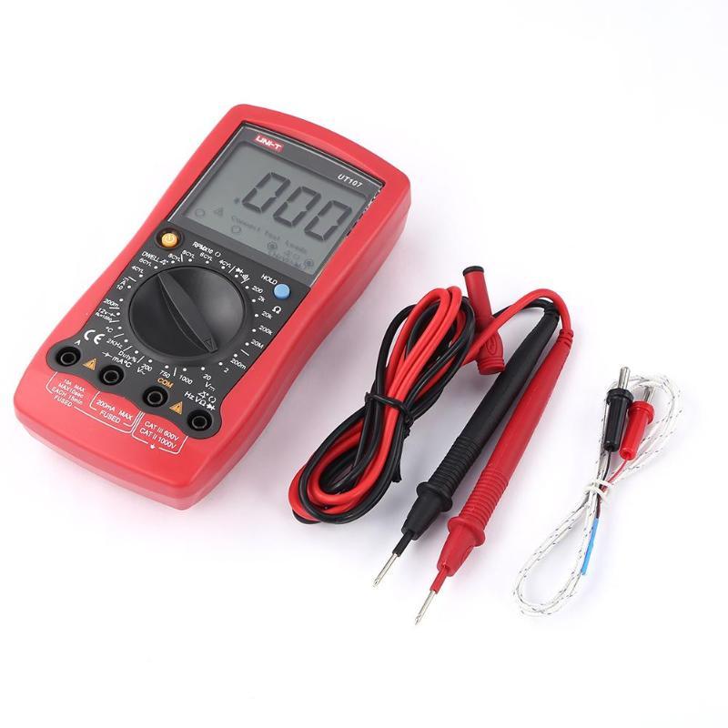 UNI-T UT107 LCD multimètre numérique portable automobile voiture compteur AC DC voltmètre testeur de courant tension Instrument