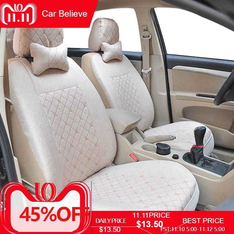 Car Believe car seat cover For renault logan megane 2 captur kadjar fluence laguna 2 scenic accessories covers for vehicle seat yuzhe auto automobiles leather car seat cover for renault megane 2 3 fluence scenic clio captur kadjar car accessories styling