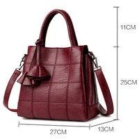 Handbags Women Bags Designer pu Leather handbags Women Shoulder Bag Female crossbody messenger bag sac a main(Red wine)