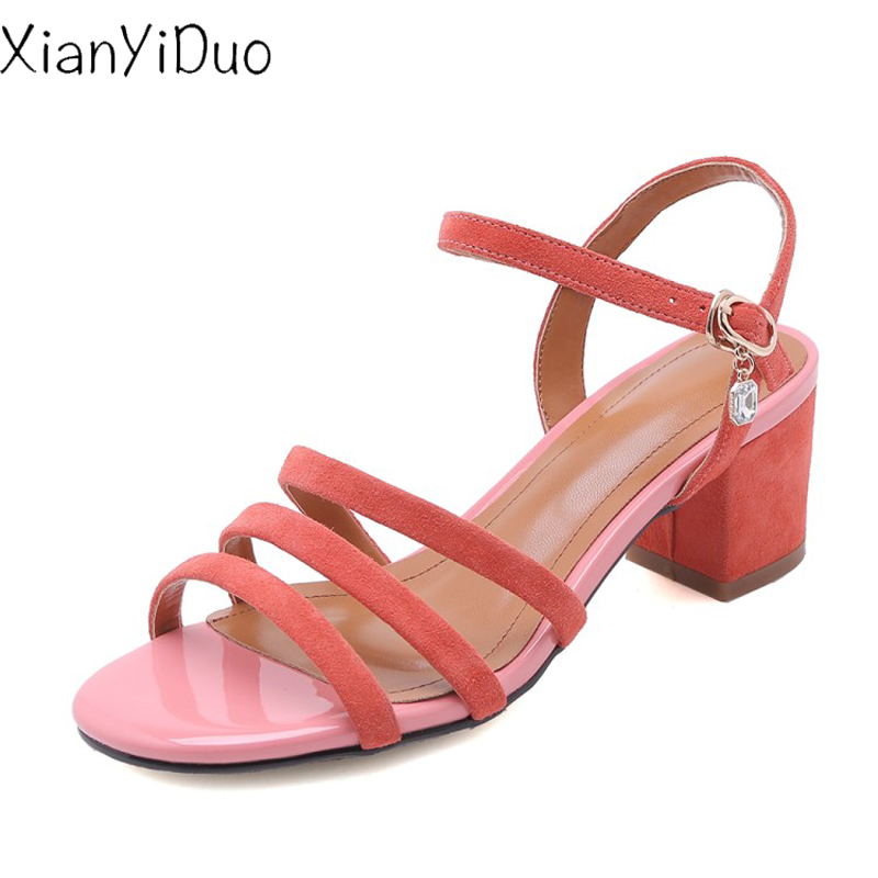 Xianyiduo 2019 new Summer Womens Shoes Sandals high heel open Toe Sexy fashion Crystal plus size 34-43 pink Beige /V598-2Xianyiduo 2019 new Summer Womens Shoes Sandals high heel open Toe Sexy fashion Crystal plus size 34-43 pink Beige /V598-2
