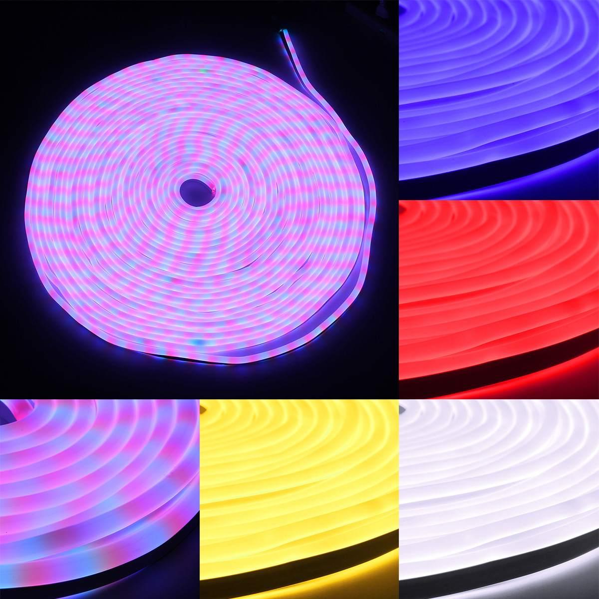 Светодиодные полосы света 110 V SMD2835 30 м Водонепроницаемый гибкие фея освещения с Мощность Plug уличные праздничные украшения неоновые огни