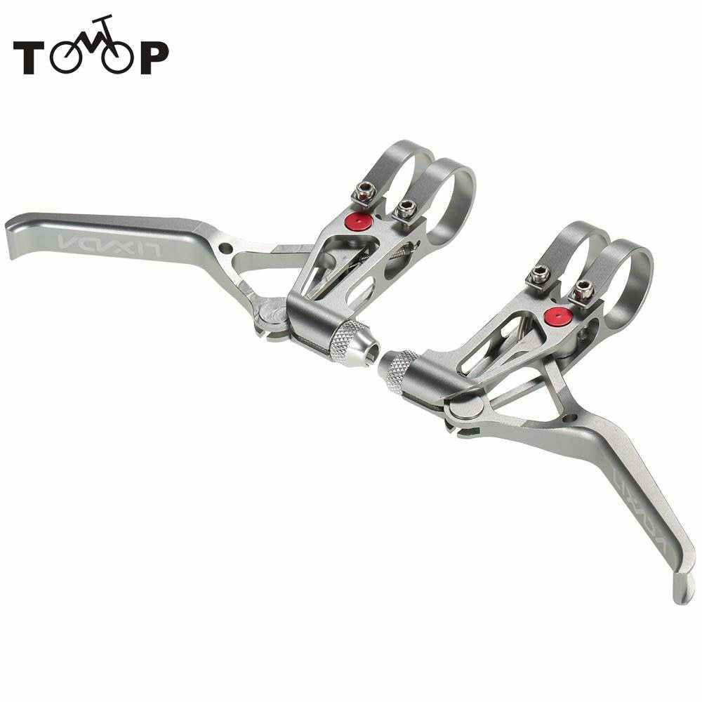 Date 1 paire Lixada vtt VTT vélo freins leviers CNC 3 doigts mécanique freins leviers Drop guidon ensemble
