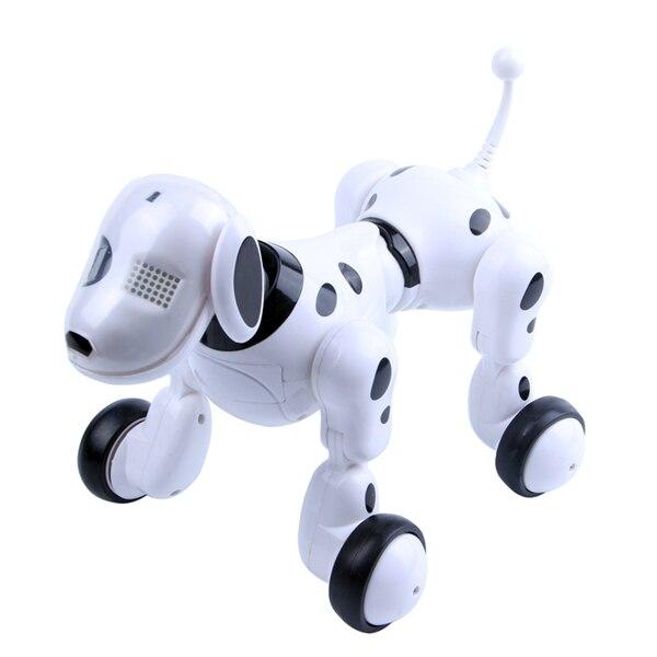 Télécommande sans fil smart robot chien Wang Xing chien électrique éducation précoce jouets éducatifs pour enfants (blanc)