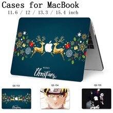 Para o Caso Do Laptop Para Notebook MacBook 13.3 15.4 Polegada Para MacBook Air Pro Retina 11 12 Manga Com Protetor de Tela teclado Enseada