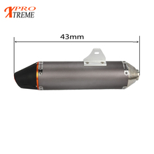 Aluminum Exhaust Muffler 38MM For Honda CRF150F 230F 2003-2013 Motocross Enduro Motorcycle Dirt Bike Off Road Spermoto