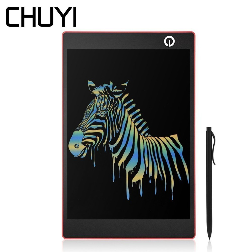 CHUYI 9.7 Inch LCD Writing Tablet Portable Colorful Notepad Electronic Smart Handwriting Pad Memo Drawing Board With Bag For Kid