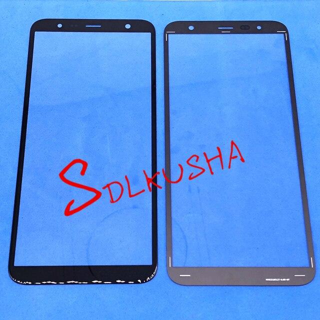 10 Pcs ด้านหน้าด้านนอกกระจกหน้าจอเปลี่ยนเลนส์หน้าจอสัมผัสสำหรับ Samsung Galaxy J6 + J6 Plus J610 J610F J610G j610DS J610FN