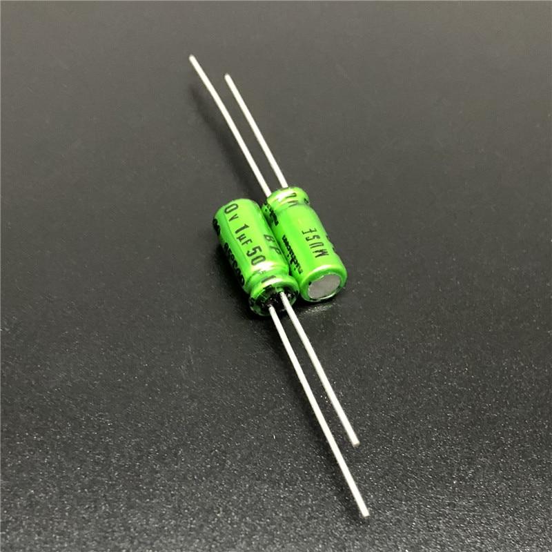 10Pcs/100Pcs 1uF 50V NICHICON Muse BP 5x11mm 50V1uF Top Grade Bipolar Audio Capacitor
