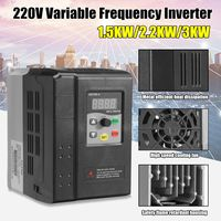 CNC Spindle motor speed control 220V 1.5/2.2/3KW VFD Variable Frequency Drive VFD 3HP frequency inverter for motor NEW