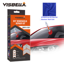 купить Visbella DIY Windshield Repair kit Windscreen Glass for Car Care Repair Hand Tool Sets Scratches Chips Cracks Restore with cloth по цене 722.66 рублей