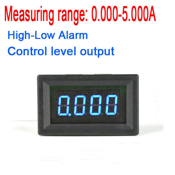 DYKB DC 5A Digital Ammeter High-Low Current Alarm control led indication monitor tester AMP METER W/ Buzzer Built-in shunt