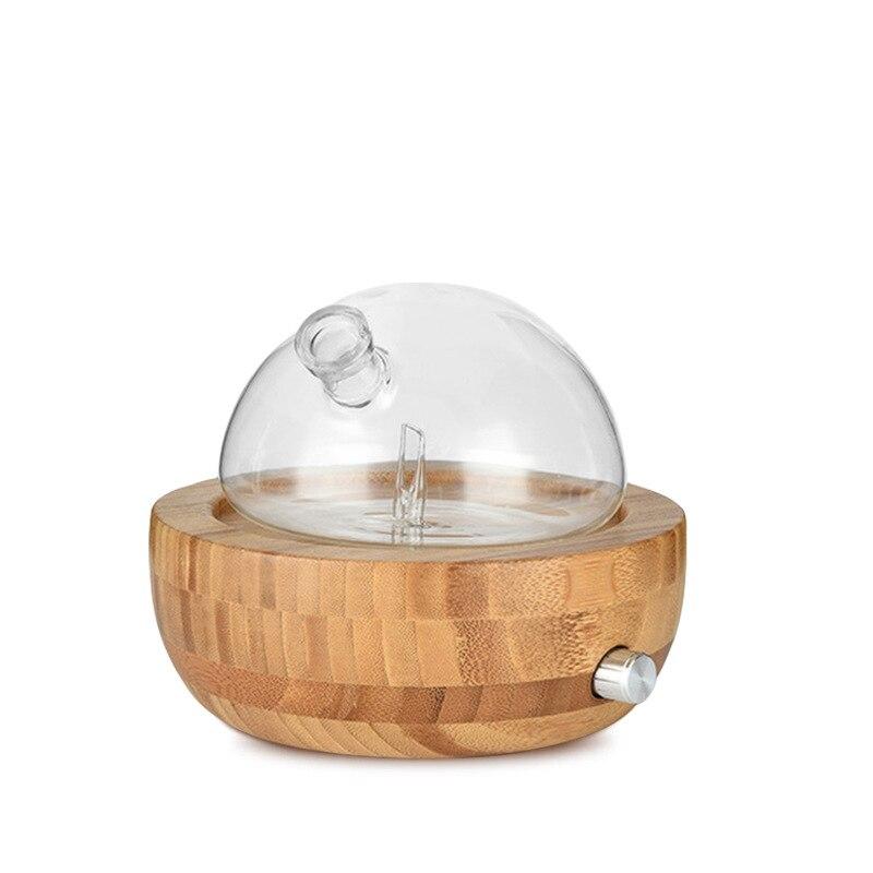 2019 Nieuwste Ontwerp Glas Essentiële Olie Vernevelaar Aromatherapie Diffuser Luchtbevochtiger Low Noise Mist Controle Timer Luchtbevochtigers Uk Plug Elegante Verschijning