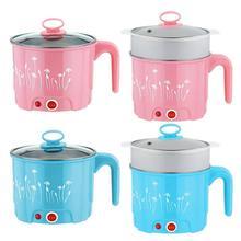 Мини 1-1.5L электрическая сковорода для лапши, рисоварка с теплоизоляцией, сковорода, контейнер для еды, электрический нагревательный Ланчбокс