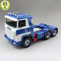 1/18 Scania Lbt 141 Tractor Truck Asg 3-Assi 1976 ROAD-KINGS Diecast Auto Vrachtwagen Model Speelgoed voor kinderen Gift blauw & Wit