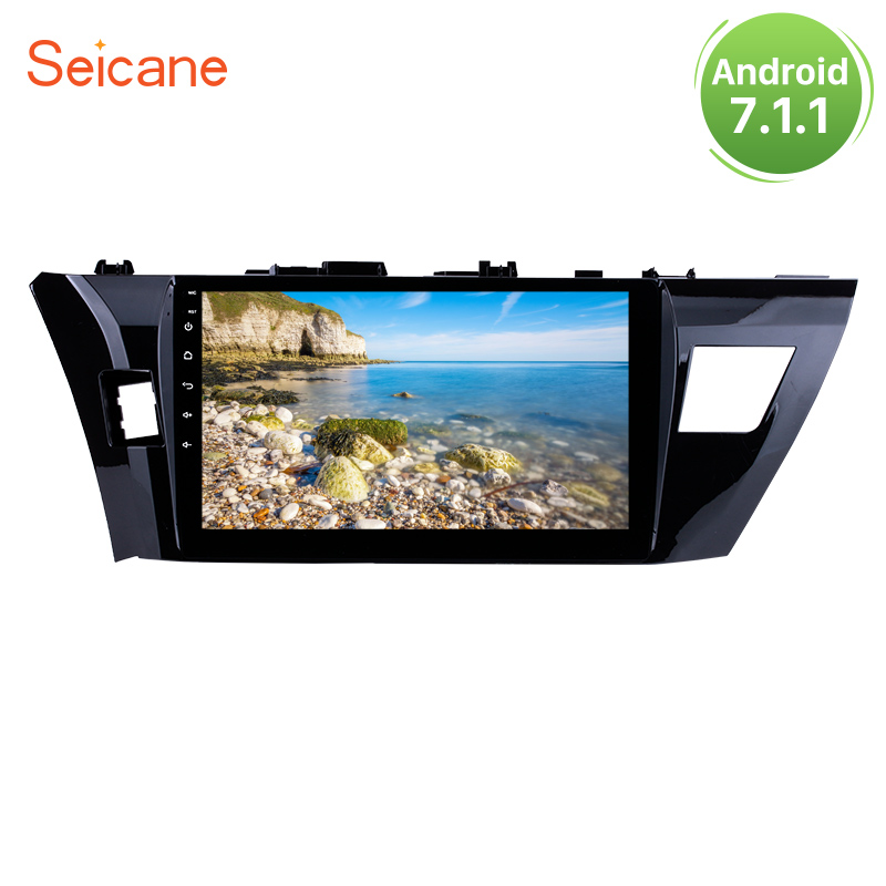 Seicane 10.1 inch Android 7.1 HD Touchscreen GPS Car Radio For 2013 2014 2015 Toyota Corolla Wifi Multimedia Player Head Unit
