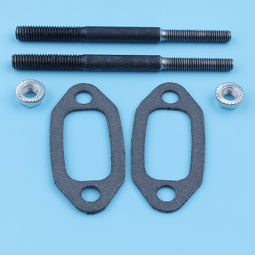 Bright Muffler Exhaust Stud Nut Bolt Gasket Kit For Jonsered 625 630 Chain Saw 5m X 6m 5016865-01 5032223-02 Replacement Spare Parts Year-End Bargain Sale Garden Power Tools