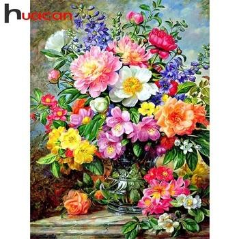 Elmas Boyama Diy çiçekler Resim Rhinestones El Sanatları Elmas Nakış