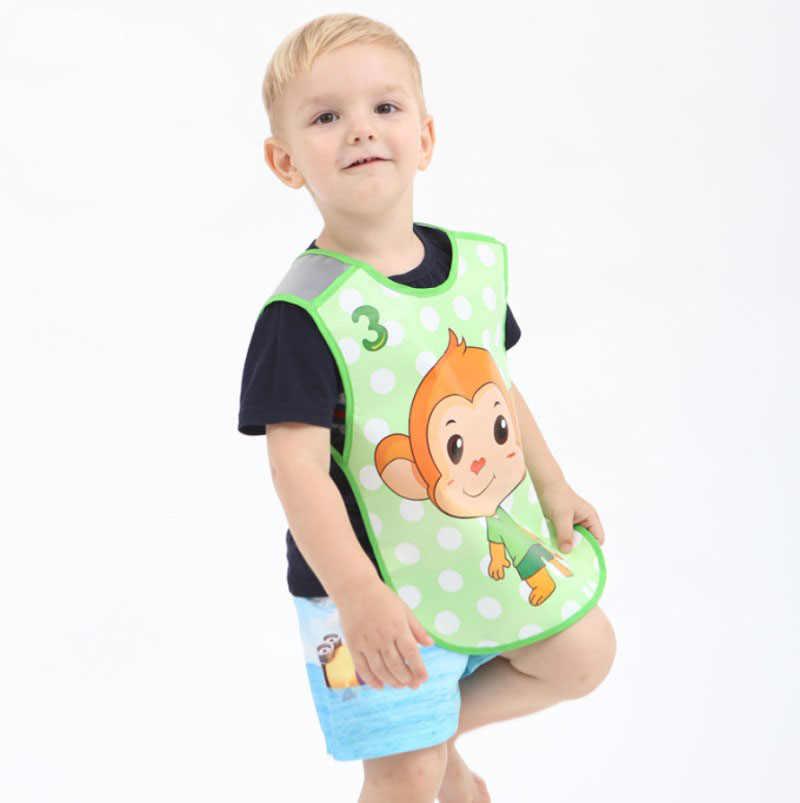 Ajustable Delantales para bebé de plástico EVA impermeable Animal lindo Baberos de bebé de dibujos animados de alimentación de niños bebé delantal Babador de bebe