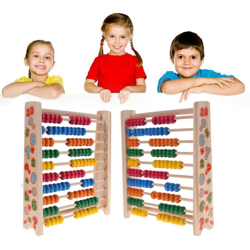 Baby Wooden Toys Small Abacus Handcrafted Educational Toys Calculating Beads For Children Early Learning Math Wood Toy