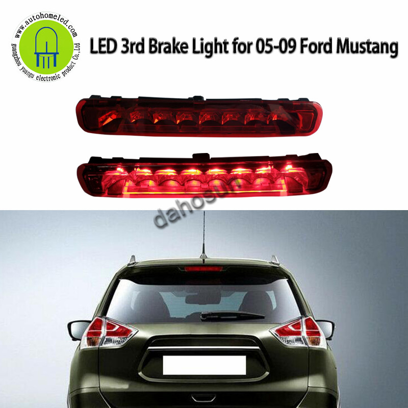 For <font><b>Ford</b></font> 05-09 <font><b>Mustang</b></font> Red Black Clear housing LED THIRD 3RD TAIL BRAKE LIGHT LAMP BAR image