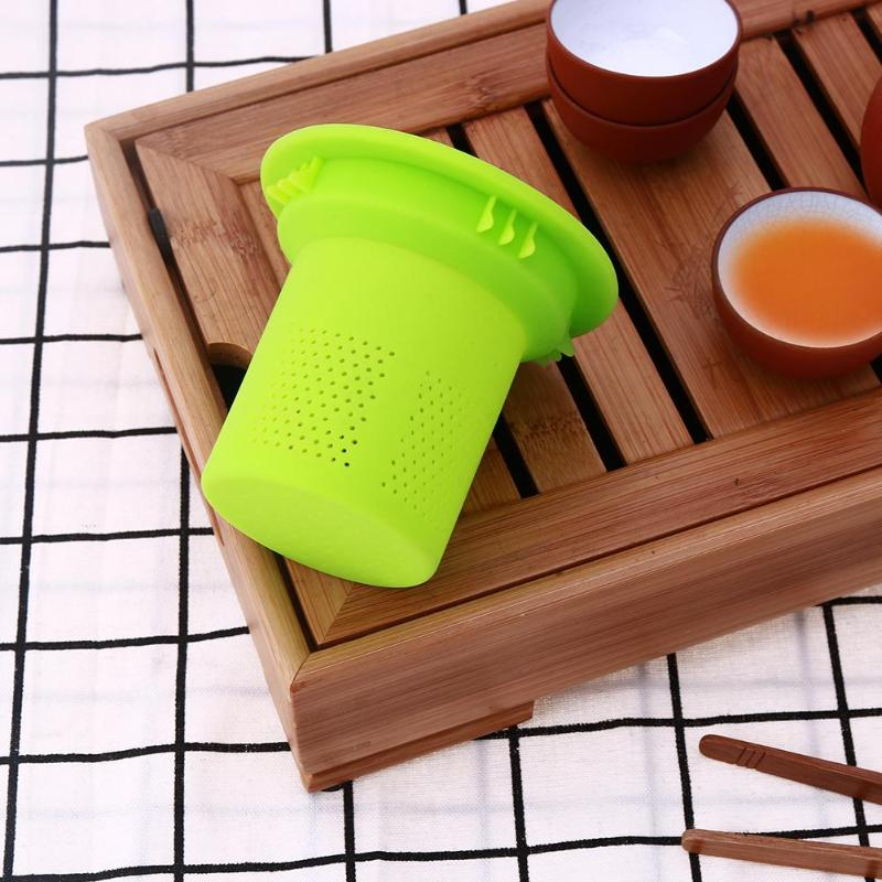 Reusable Silicone Tea Strainer Filter Mesh Tea Infuser Loose Tea Leaf Spice Strainer for Teapot Drinkware Accessories