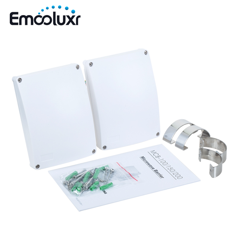 Capteur extérieur réglable de protection de barrière du détecteur IP65 de faisceau de micro-ondes de 8 fréquences pour le système de sécurité d'alarme câblé pour la maison, ferme