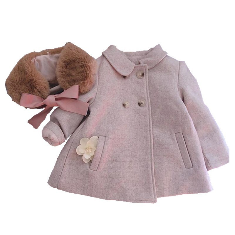 Y1861098 Autumn Baby Girl Winter Jacket For Girls Coat fur collar Kids Clothes kids Parka for girl Outerwear Children clothes yp176140 autumn clothes for girls coat baby jacket for girls jacket kids jacket fashion baby girl clothes windbreaker children