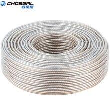 CHOSEAL DIY HIFI altavoz Cable de Audio Cable alambre libre de oxígeno Cooper Cable de altavoz de 50/100/150/200 Core para cine en casa