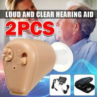 2PCS Rechargeable Mini Hearing Aids Hearing Amplifier K88 Ear Sound Amplifier Hearing Aids Rechargeable Hearing Aid